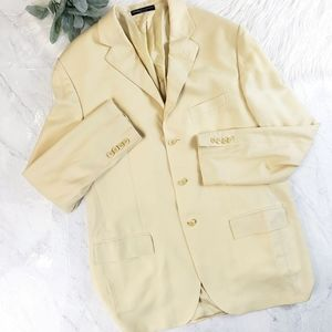 Ralph Lauren Italy Cashmere Yellow Mens Sport Coat